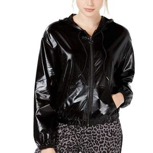 Material girl active black zip up jacket size S
